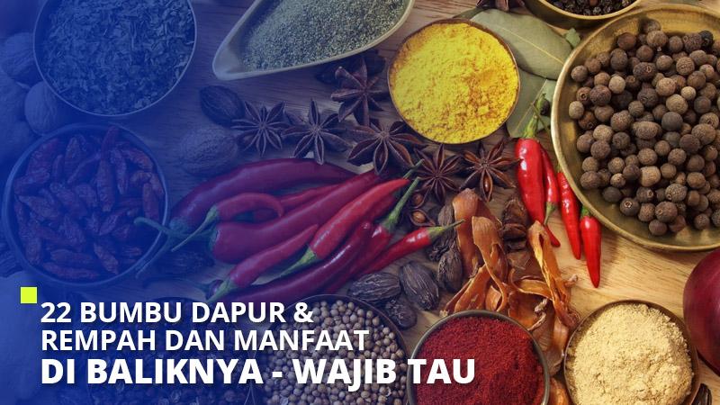 22 Bumbu Dapur & Rempah dan Manfaat di Baliknya – Wajib Tau