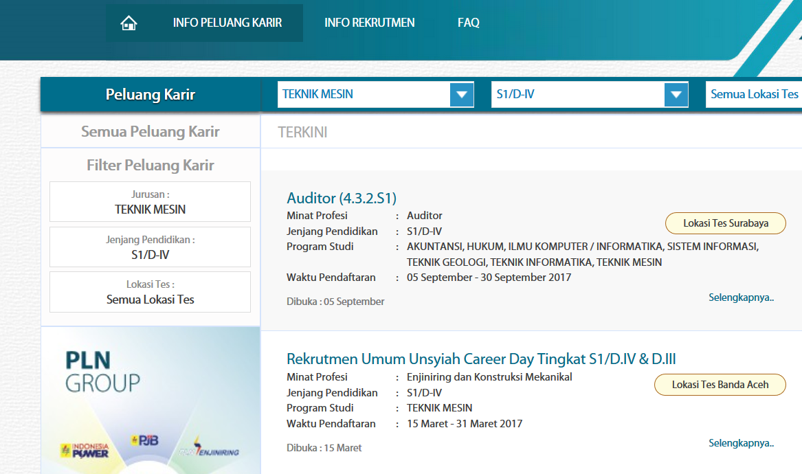 Cek Tagihan Melalui Website