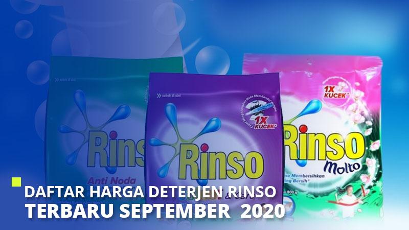 Daftar Harga Deterjen Rinso Terbaru September  2021