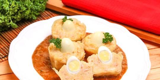 Siomay Telur dan Kucay
