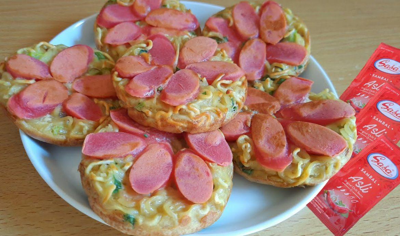 Pizza Mie Sosis Goreng