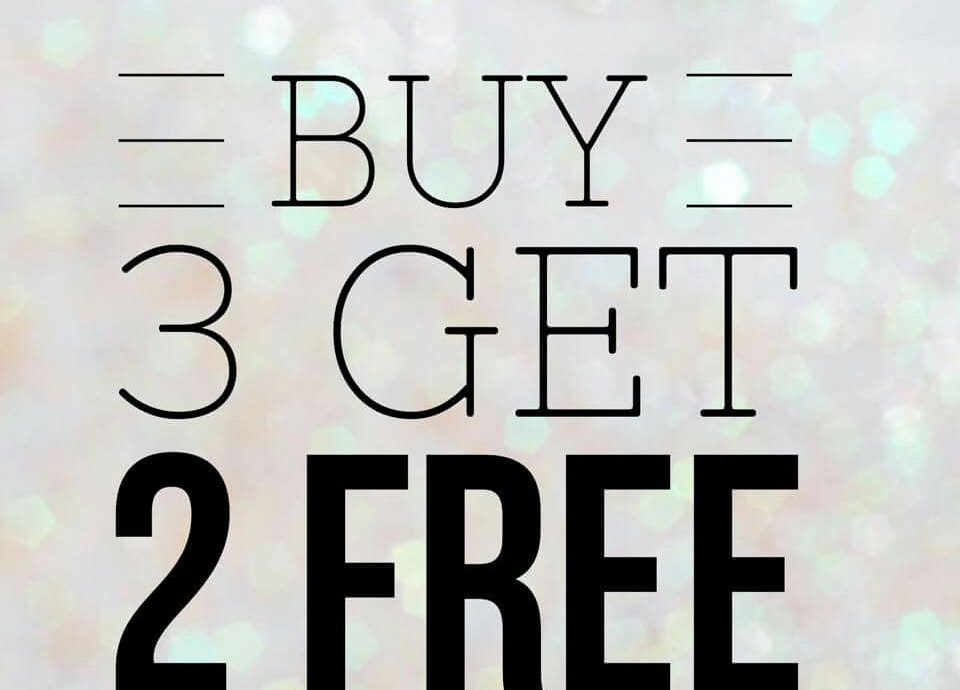 4.   Diskon Buy 3 Get 2 Free