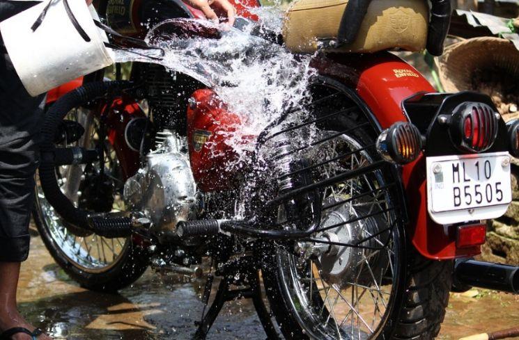 2.   Membuka Tempat Cuci Motor