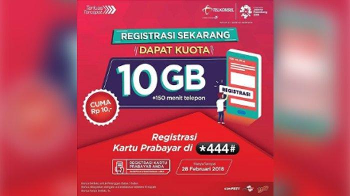 3.   Paket Internet Telkomsel 4G 10GB