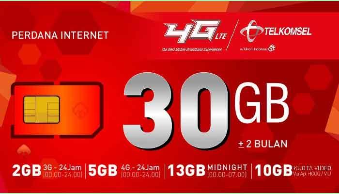 Paket Internet Telkomsel 4G 8GB