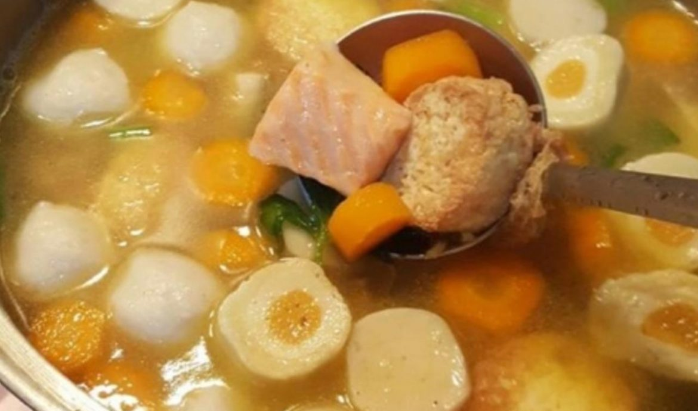 4.   Sup Ikan Salmon