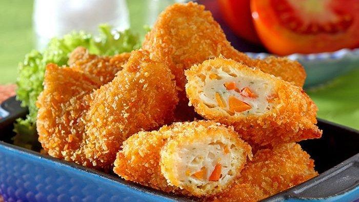 5.   Goreng Nugget Ayam Sayur dan Sajikan