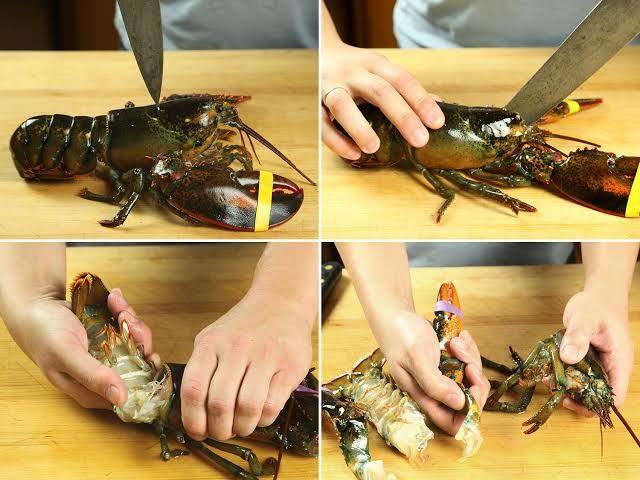 2. Cuci dan Bersih Lobster