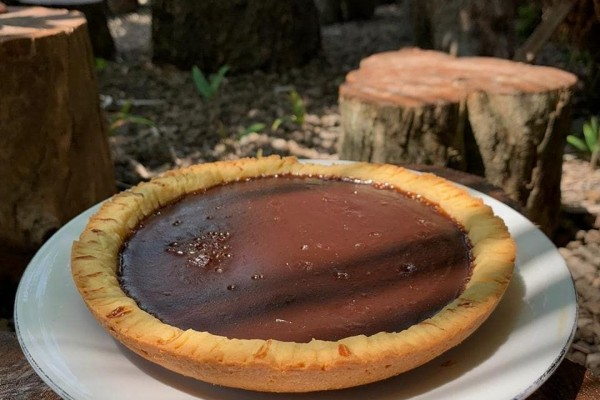 4.   Cetak Pie Susu Coklat