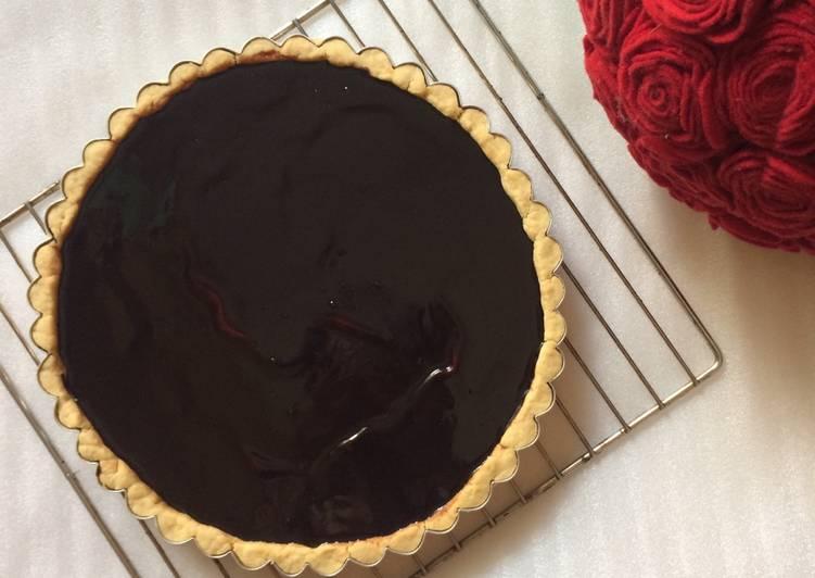 5.   Panggang Pie Susu Coklat dalam Oven