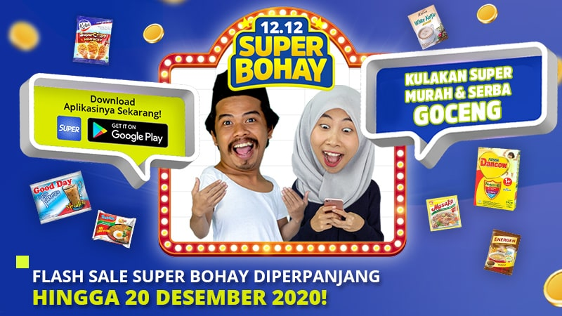 Flash Sale Super Bohay Diperpanjang Hingga 20 Desember 2020!