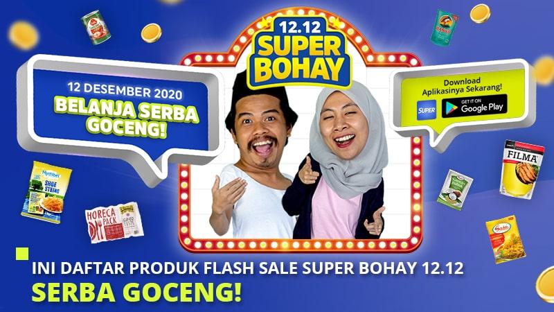 Ini Daftar Produk Flash Sale Super Bohay 12.12, Serba Goceng!