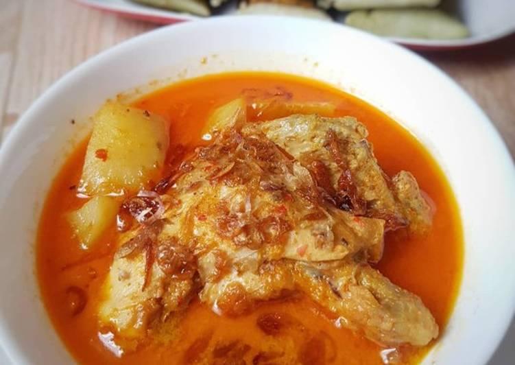 5. Kari Ayam Pedas Siap Disajikan