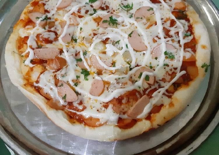 6. Pizza Teflon Siap Dihidangkan