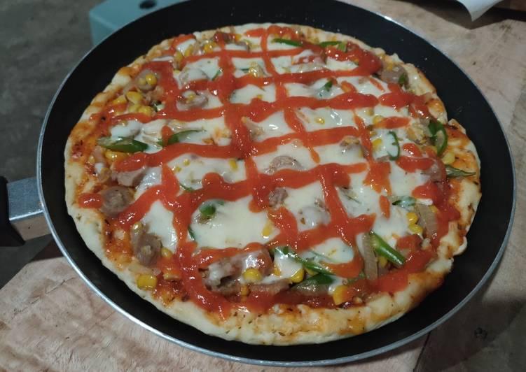5. Cetak Pizza dengan Teflon