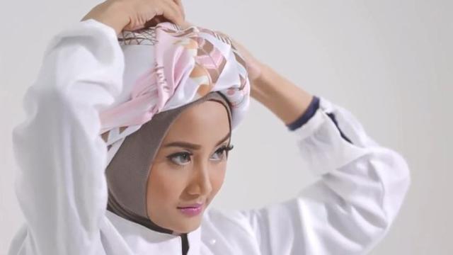 12. Tutorial Turban Menggunakan Pashmina