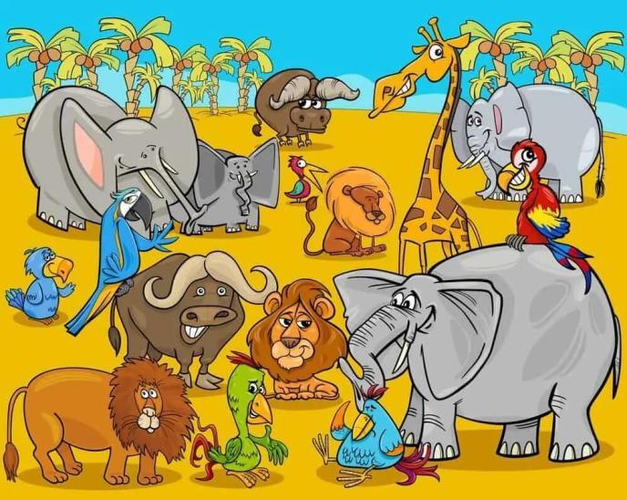 14. Gajah dan Teman-Temannya