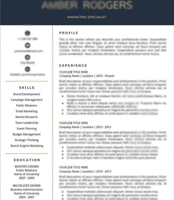 7. CV Posisi Marketing